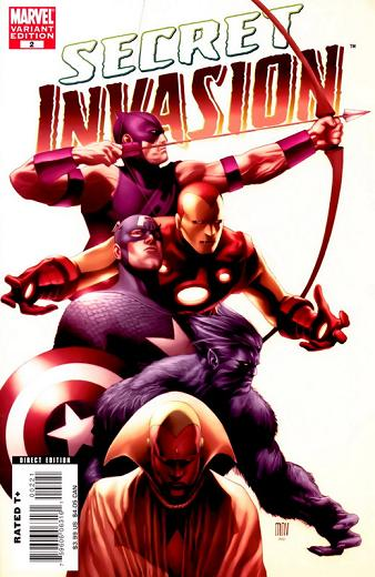 Portada de Secret Invasion de McNiven