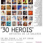 30 heroes, exposicion de comic en Barcelona