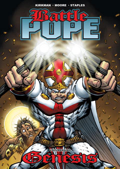 Battle Pope, curiosidad del comic