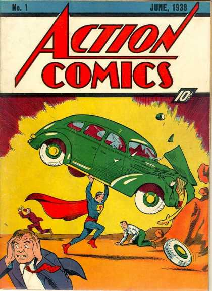 Las mejores portadas de comic I: el debut de Superman