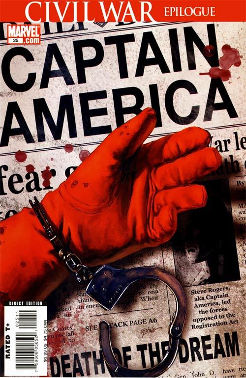 Portada de la muerte del Capitan America