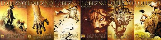 Lobezno origen, seis portadas