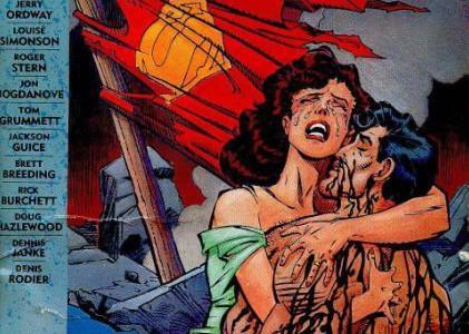 La muerte de Superman en portada