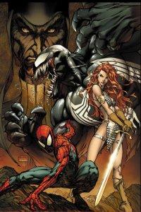 Spiderman y Red Sonja