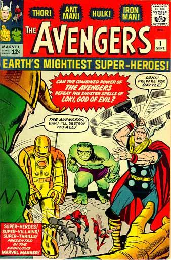 Vengadores primera portada 1963