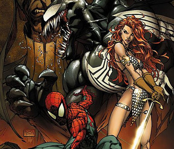 Spiderman y Red Sonja