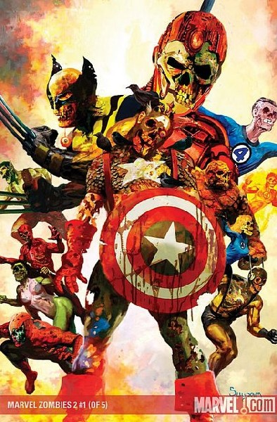 portada de marvel zombies civil war