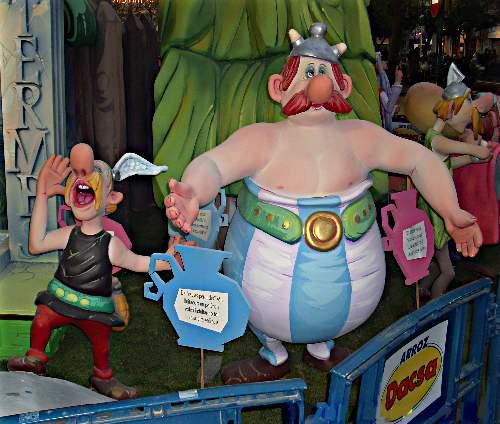 Ninots de Asterix y Obelix