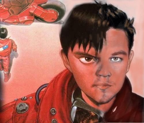 Akira con Leonardo DiCaprio