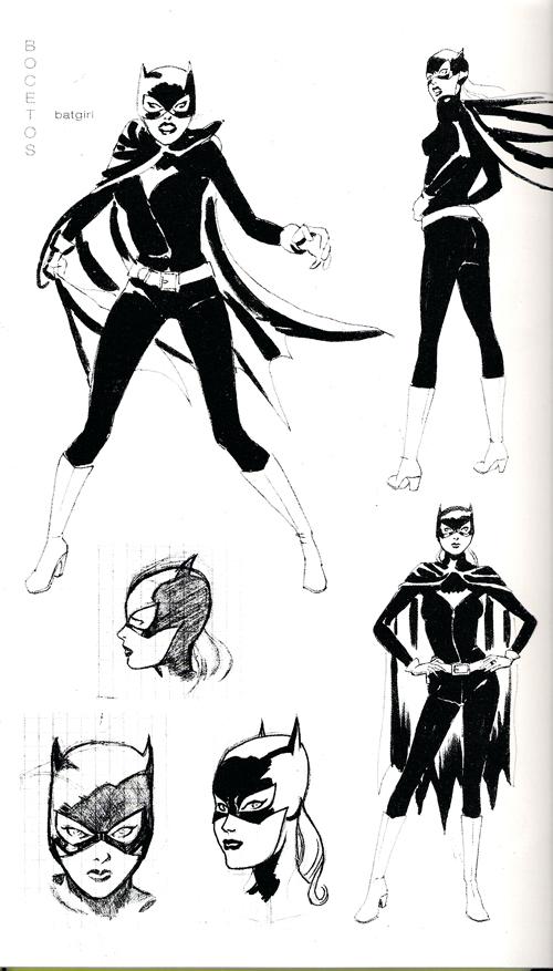 Bocetos para Batgirl: año uno