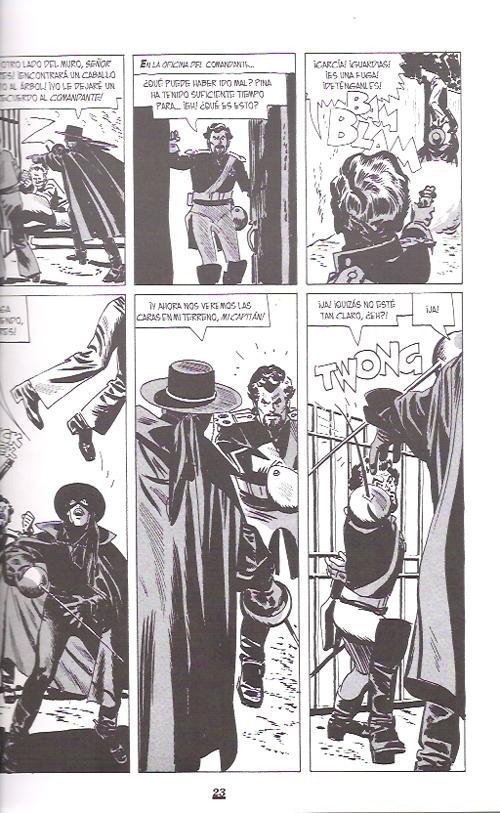 Primera página que dibujara Alex Toth para el Zorro