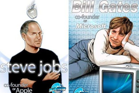 Steve Jobs y Bill Gates, protagonistas de un cómic