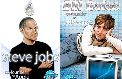 Cómics sobre Steve Jobs y Bill Gates