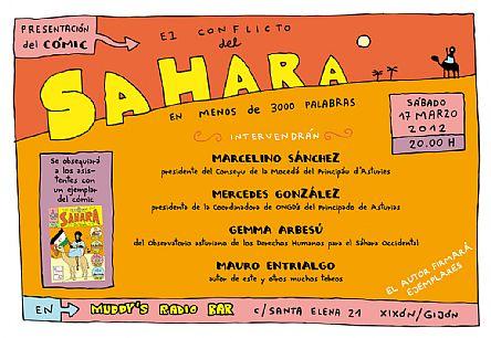 conflicto del Sahara en comic
