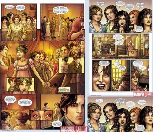 Orgullo y prejuicio comic interior